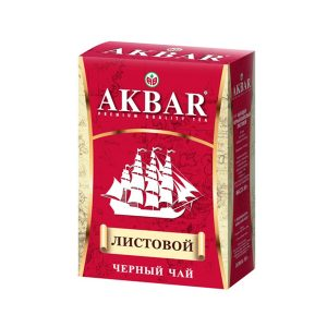 tea black leaf akbar ship 90g red